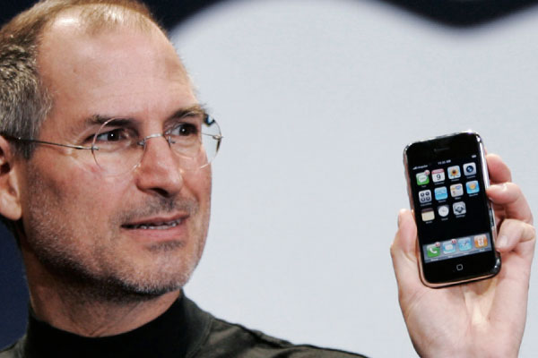 Steve Jobs Holding Original Iphone